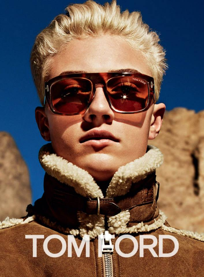 Lucky Blue Smith and Ondria Hardin for Tom Ford