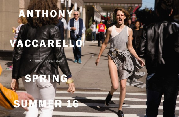 Freja Beha Erichsen For Anthony Vaccarello SS 16 Ad Campaign