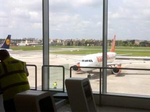 Der Airbus nach Berlin