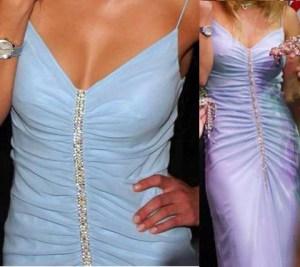 драпировка по центру платья