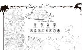 Mapa completo Juego de Tronos