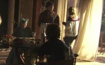 Lady Olenna con Tyrion y Pod
