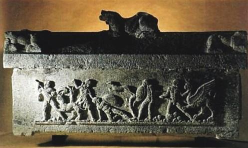 Tarquinia - Sarcófago con Cerbero