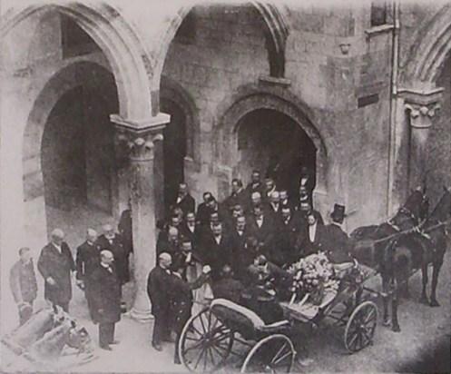 Visita de Emanuele III y Elena de Savoya al Palacio Vitelleschi (17 mayo 1905)