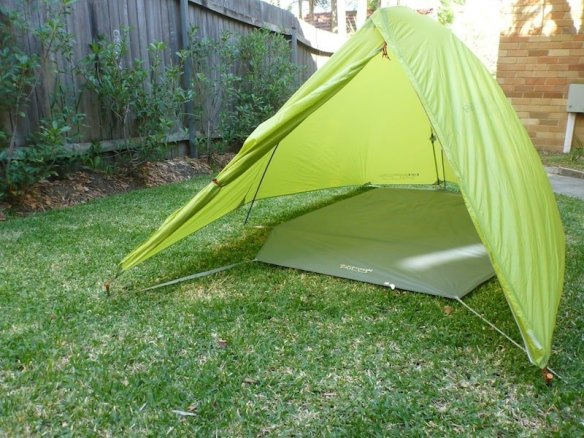 Easton Kilo 2P tent setup as Fly Only