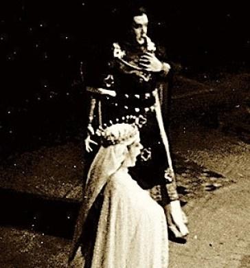 as Elisabeth on stage