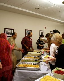 Dinner buffet, provided by member congregations