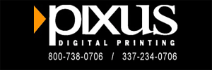 Pixus Digital Printing sticky size taken off web with black background added