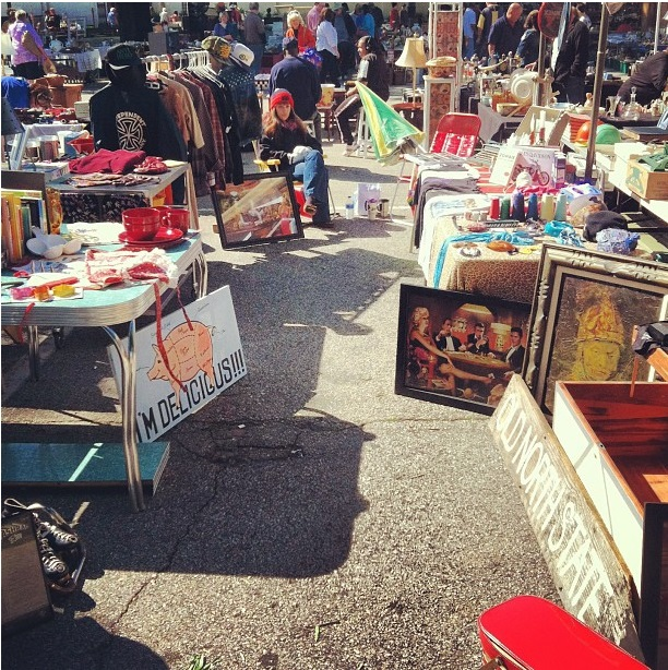 flea market set up