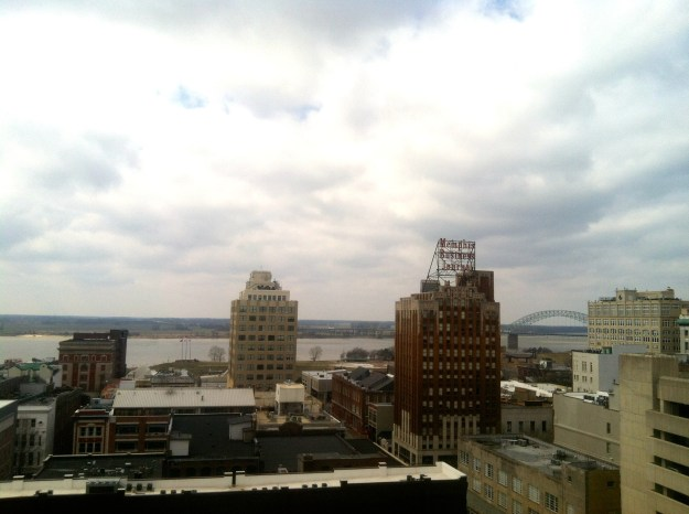 Memphis Skyline from the top of the Peabody hotel.