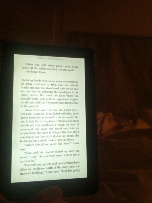 reading on kindle