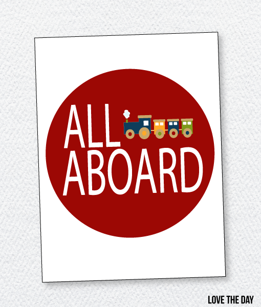 Train Party Printable:: Welcome Sign
