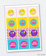 Pretty Polka Dot Party Printables:: Party Tags