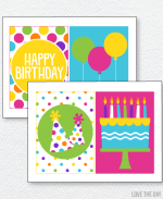 Pretty Polka Dot Party Printables:: 5X7 Signs