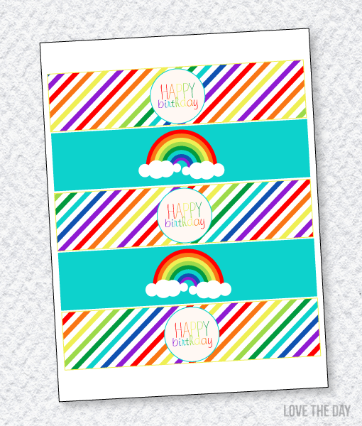 Rainbow-Drink-Labels