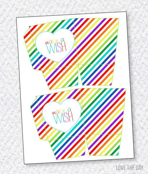 Rainbow Party Printables:: Favor Box