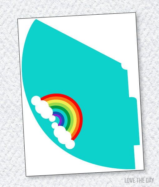 Rainbow Party Printables:: Party Hat