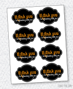 Black & Orange Halloween Party PRINTABLES:: Favor Tags