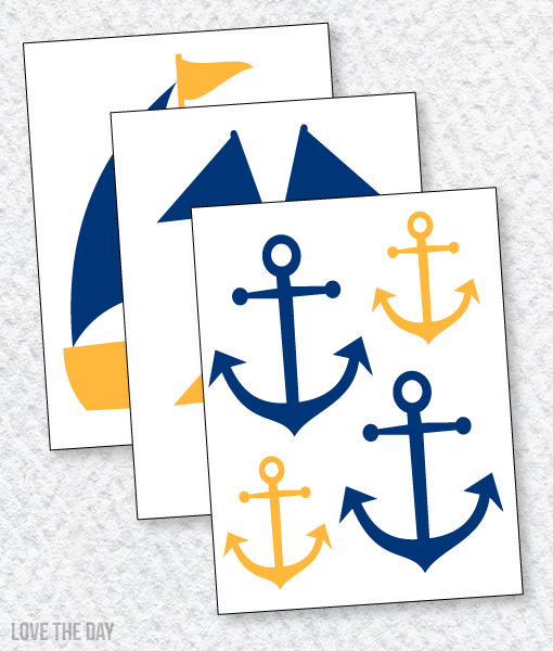 Nautical Baby Shower PRINTABLES:: Decals