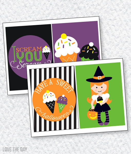 'I Scream, You Scream' Halloween Party:: 5X7 Party Signs