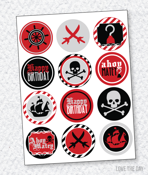 Pirate Party PRINTABLES:: Party Circles