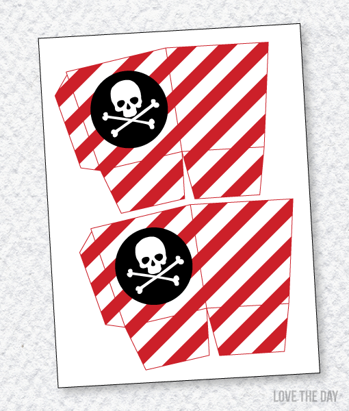 Pirate Party PRINTABLES:: Favor Bo