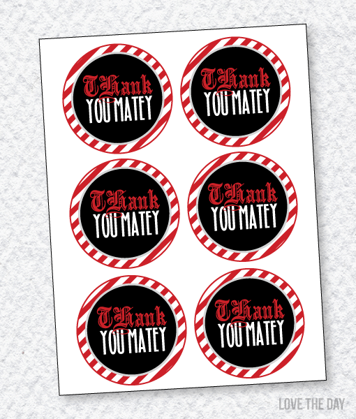 Pirate Party PRINTABLES:: Favor Tags