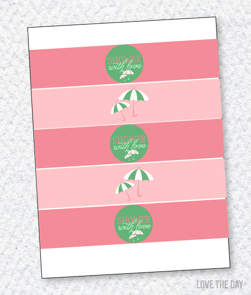 Shower With Love Baby Shower PRINTABLES:: Drink Labels