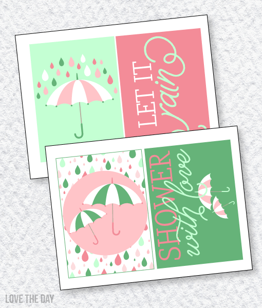 Shower With Love Baby Shower PRINTABLES:: 5X7 Party Signs