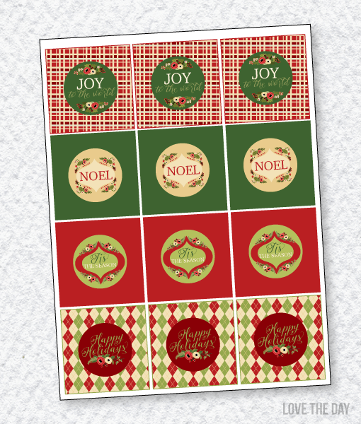 Floral Christmas Party:: Party Tags