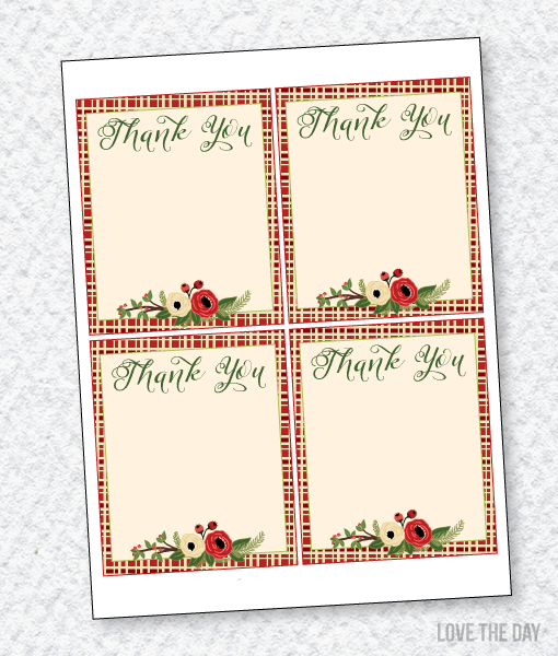 Floral Christmas Party:: Thank You Cards