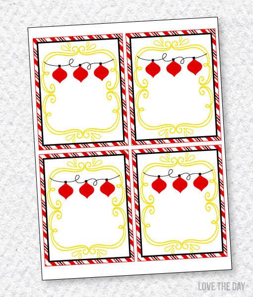 Santa's Sweets Party PRINTABLES: THank You Cards