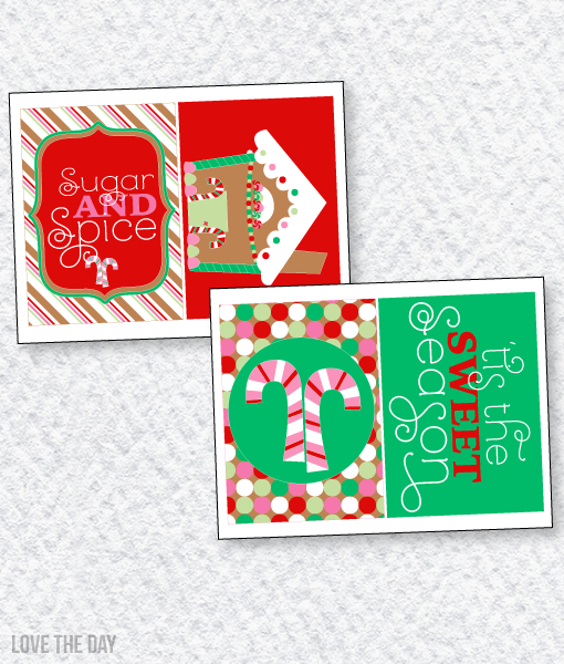 Gingerbread Party PRINTABLES: 5X7 Party Signs