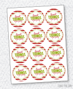 Christmas Neighbor Gift Tag PRINTABLES:: Sweet Tidings by Love The Day