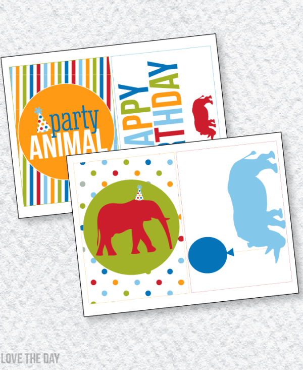 Party Animal PRINTABLES:: 5X7 Party Signs