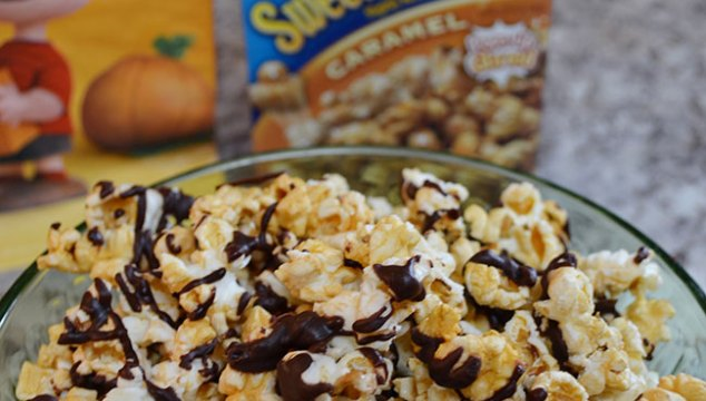Easy Chocolate Covered Caramel Popcorn