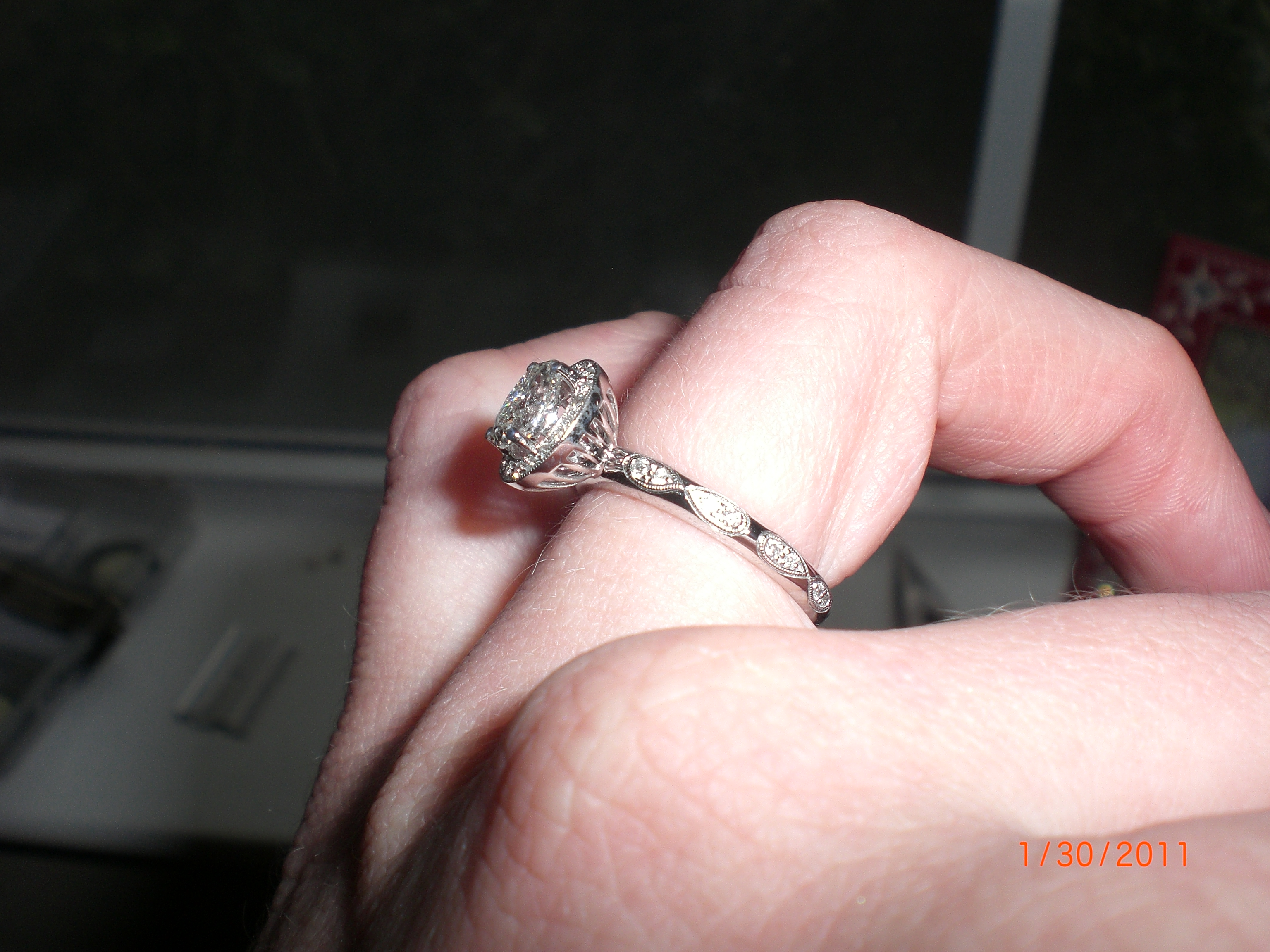 infinity infinity diamond wedding band My wedding band has the infinity symbol circling the whole ring Inside the top infinity are 2 stones one aquamarine and one ruby our birthstones