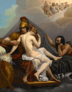 Hephaestus catches Aphrodite and Ares and traps them!