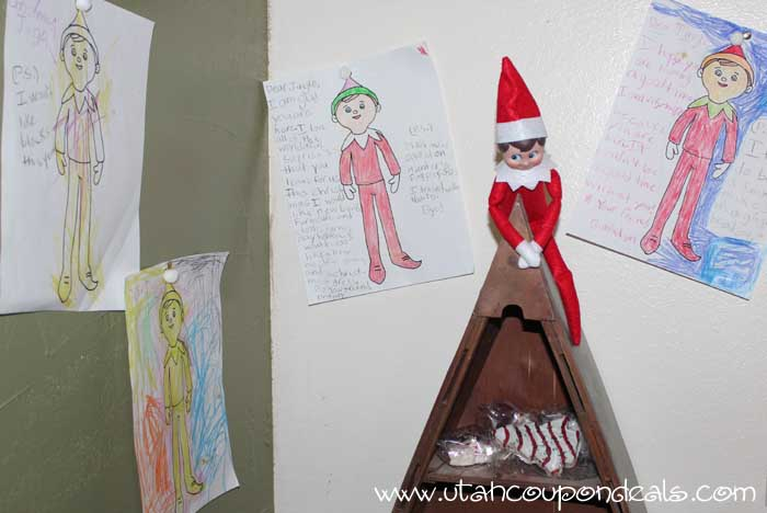 Elf on the Shelf Ideas - Elf Coloring pages and treats