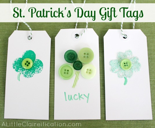 DIY St. Patrick's Day Gift Tags