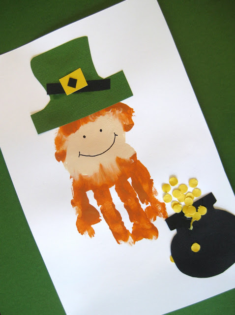 St. Patrick's Day Handprint Leprechaun Craft