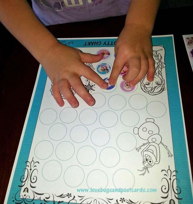 FROZEN Potty Chart {Free Printable} + Potty Training Tips