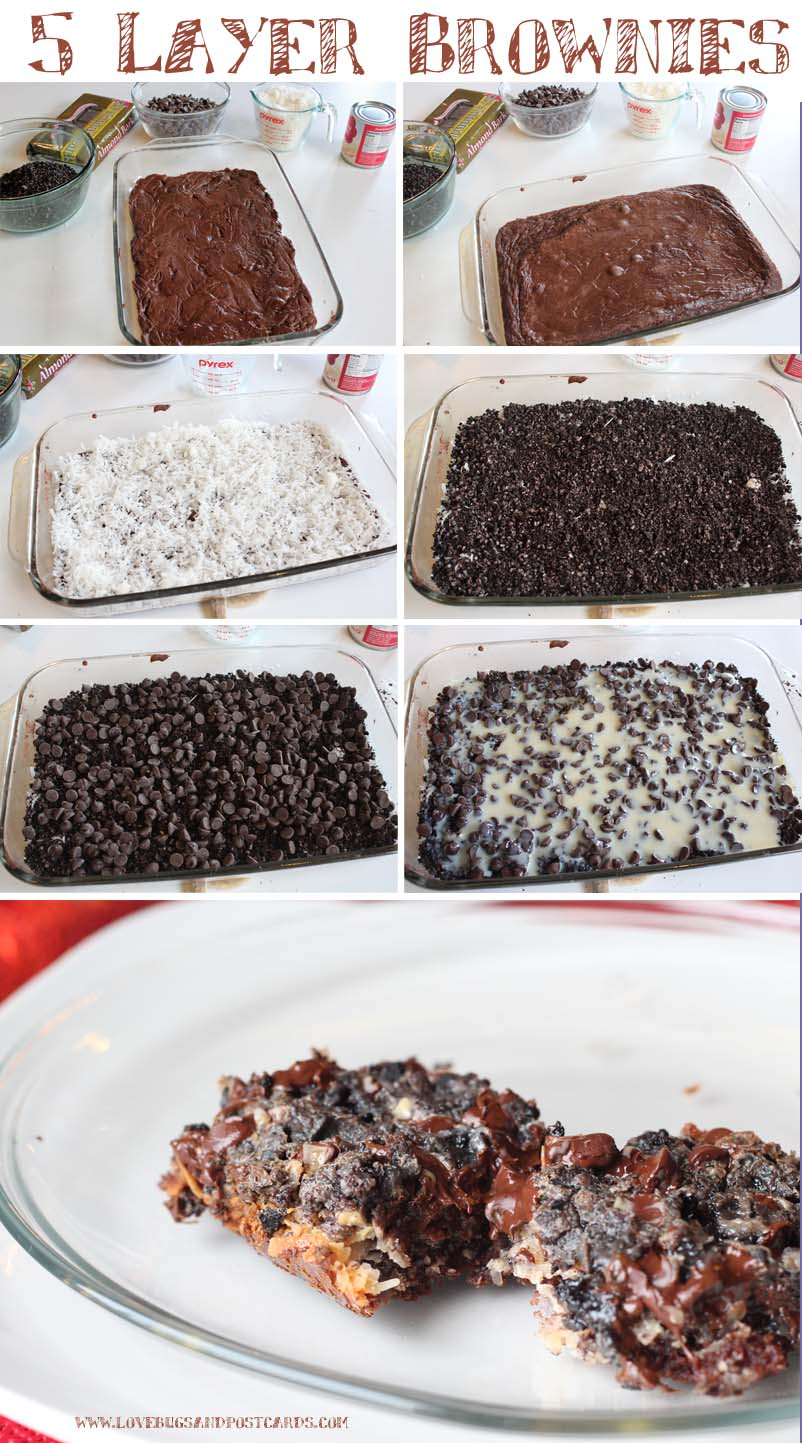 5 layer brownies recipe + Holiday cleaning tips