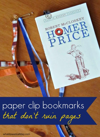 Paperclip Ribbon Bookmarks
