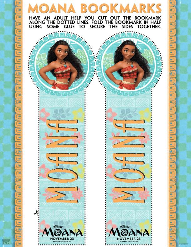 Disney's MOANA Bookmarks