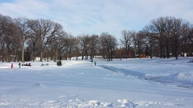 Morden Park in winter