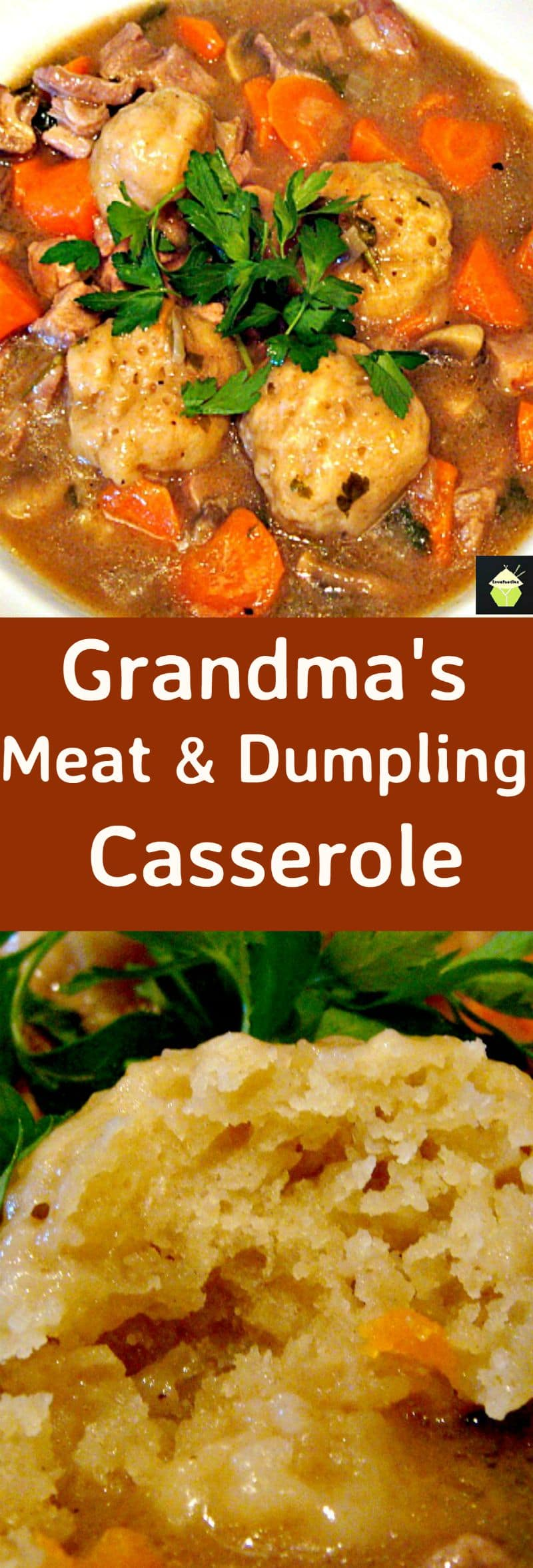 Grandma S Meat And Dumpling Casserole Lovefoodies