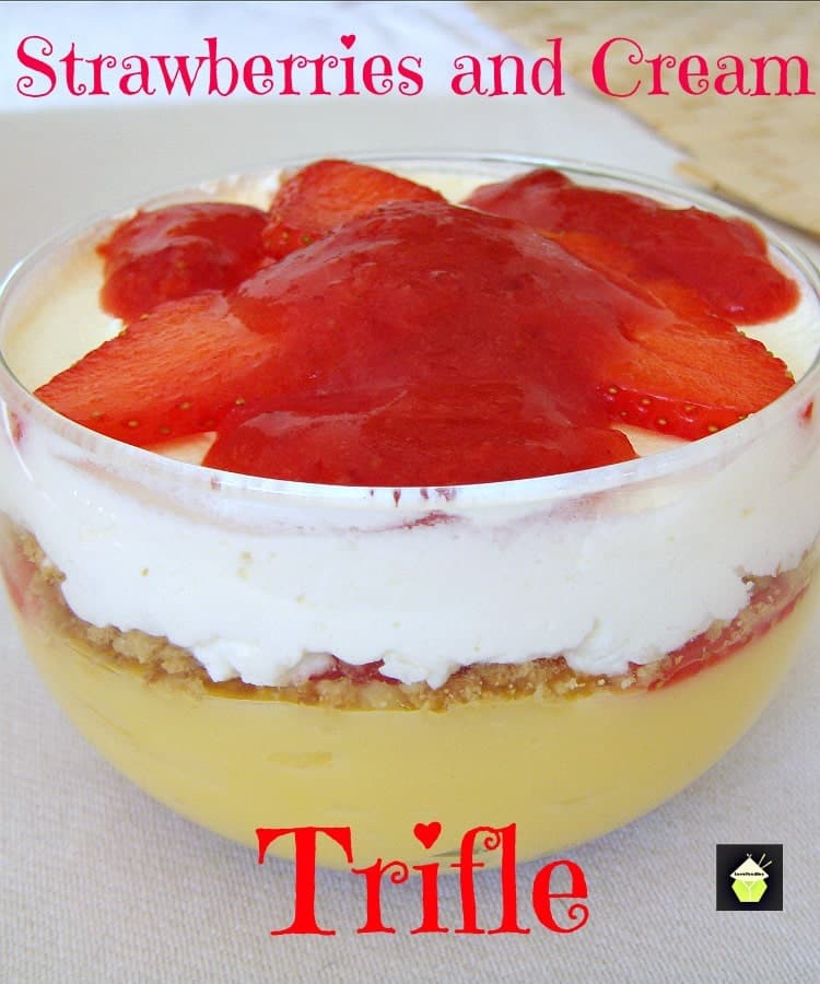 Strawberries and Cream Trifle – Lovefoodies