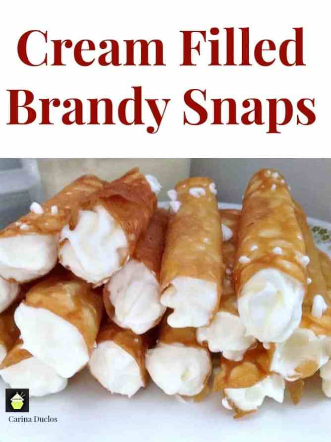 Cream Filled Brandy Snaps – Lovefoodies