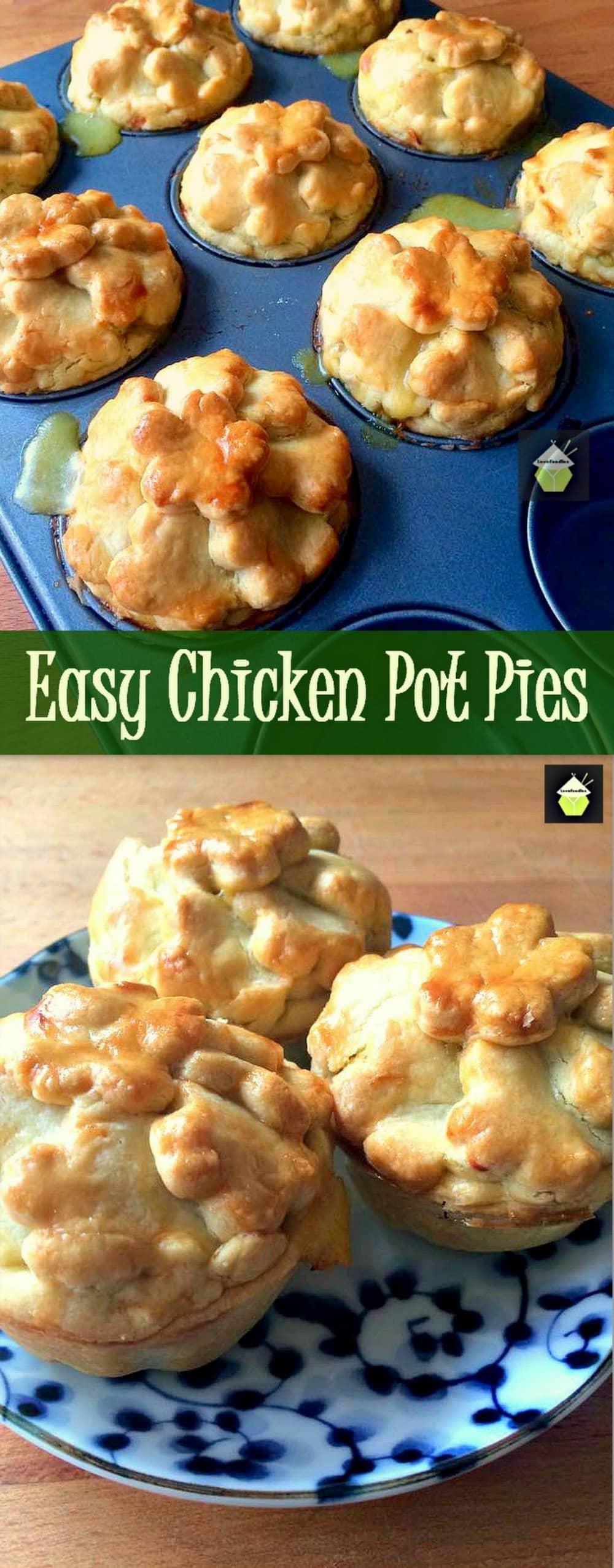 Easy Mini Chicken Pot Pies – Lovefoodies